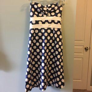 Donna Ricco Strapless Polka Dot Dress - Size 6